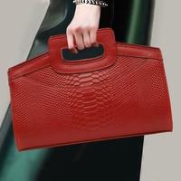 Women Clutch Serpentine Pattern Evening Bag Female Purse Handbags Ladies Wallet With Animal Prints Chain Shoulder Messenger Bags