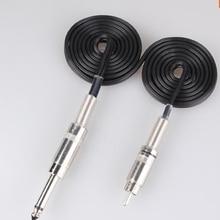1 Pcs Black Silicone Tattoo Clip Cord For Tattoo Power Supplies 8 Feet Long Tattoo Machine Gun RCA Clip Cord
