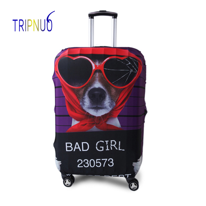 TRIPNUO Red Dog Cover for Suitcase Travel Elasticity Luggage Protective Covers Elastic Travel Accessories Trolley Cover