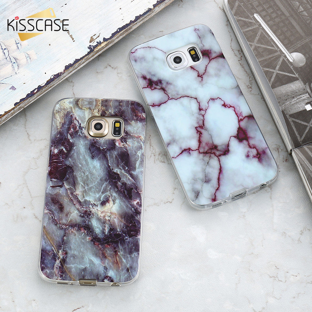 Galleria fotografica KISSCASE Marble Case For Samsung Galaxy S8 Note 8 Cases For Samsung A5 2017 J5 J3 2016 S6 S7 Soft TPU Mobile Phone Cover Coque