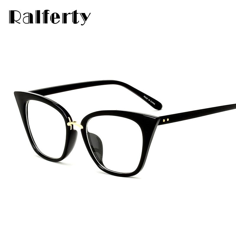 b1e15a57ad Detail Feedback Questions about Ralferty Retro Eyewear Frames Women Optical  Prescription Glasses Frame Clear Cat Eye Eyeglasses Vintage Myopia Spectacle  ...