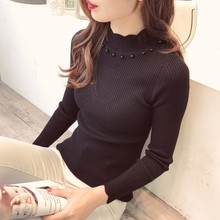 цена на Autumn Winter Sweaters Women Long Sleeve Turtleneck Pullovers Sweaters Casual Solid Female Slim Knitted Sweaters G47