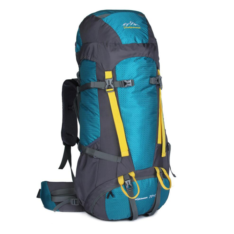 Фотография Brand Climbing Bags Outdoor Backpack Hiking Big Pack Waterproof Cover  Large Cycling Bag Men Women Backpack  Elastic Breathable