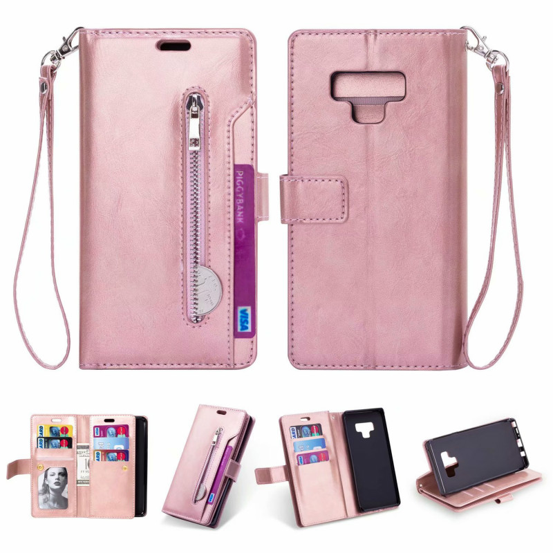 9 Card Slot holders Flip Leather Case for Samsung galaxy note 9 8 s9 s8 plus dege Zipper Wallet cover for samsung s7 s6 edge bag9 Card Slot holders Flip Leather Case for Samsung galaxy note 9 8 s9 s8 plus dege Zipper Wallet cover for samsung s7 s6 edge bag