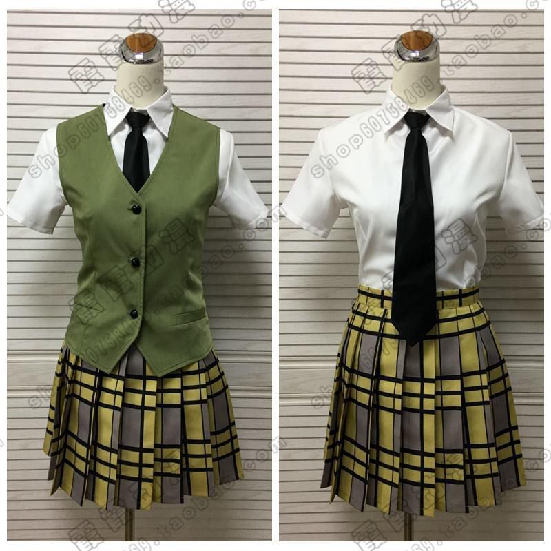 Anime Citrus Aihara Mei Uniform Suit Shirt Skirt Vest Tie Cosplay Costume Outfit Clothes