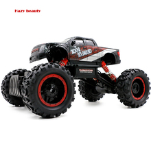 Electric Large Remote Control Cars Kids Rc Car 4wd 2.4g 4ch Monster Truck Rock Crawlers Bigfoot Car Double Motors Rc Off Road