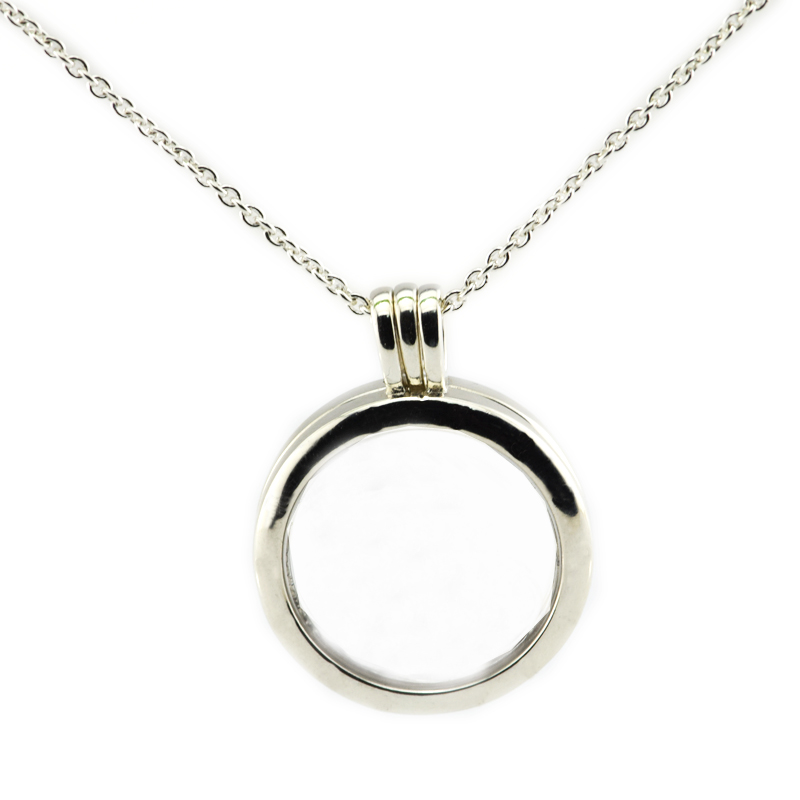 Pandulaso Round Glass Floating Locket Necklaces for Women New Fashion Silver 925 Jewelry DIY Girl Signature Pendants & NecklacesPandulaso Round Glass Floating Locket Necklaces for Women New Fashion Silver 925 Jewelry DIY Girl Signature Pendants & Necklaces