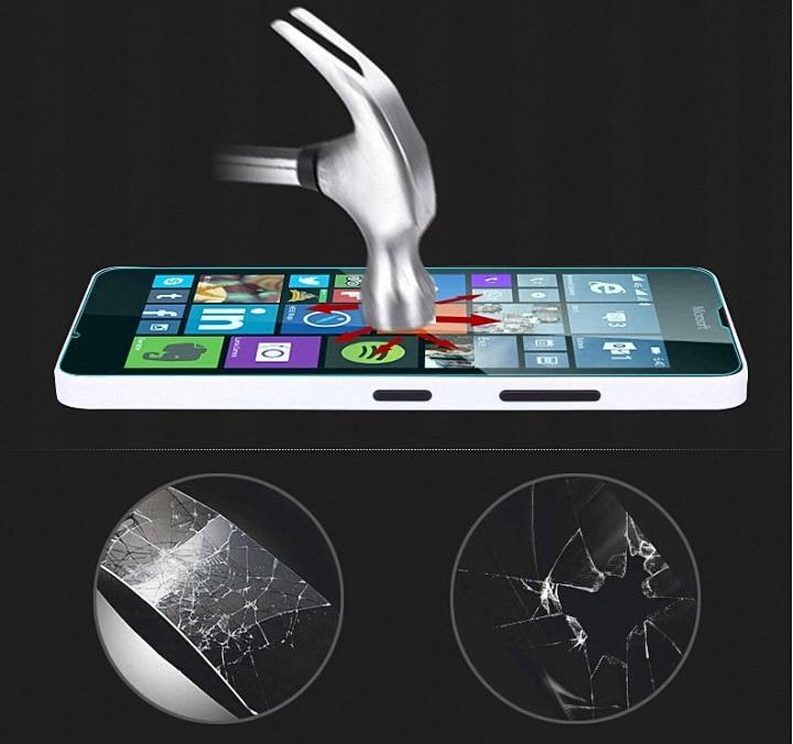 Displayschutzfolie aus gehärtetem Glas für Nokia Lumia 520 530 535 540 550 630 640 XL 650 730 830 920 930 950 XL 1320 1520 Film
