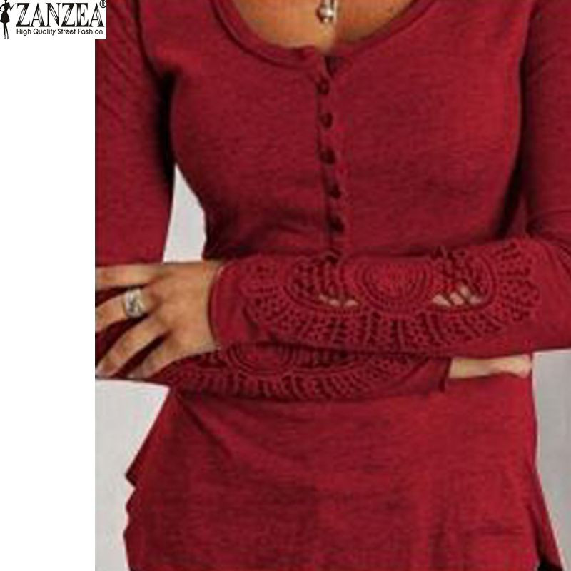 HTB1Tgr LpXXXXcBXFXXq6xXFXXX7 - Autumn Womens Style Lace Long Sleeve Hollow Solid
