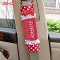 Par de chicas arco lindo mocmoc lindo cubierta del cinturón de seguridad del asiento de coche car-styling car relleno hombro accesorios de decoración para vw