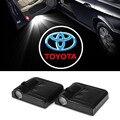 2x Levou Porta Do Carro Logo Luz Para Toyota Corolla Avensis Yaris Rav4 Verso Prius Celica Camry 40 Hiace Hilux Auris Vitz Supra Aygo