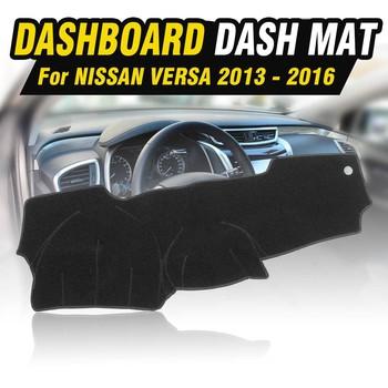 Deska rozdzielcza samochodu dywan mata na deskę rozdzielczą Dashmat osłona przeciwsłoneczna Pad dla Nissan Versa 2013 2014 2015 2016 tanie i dobre opinie Włókien syntetycznych For Nissan Versa 2013-2016