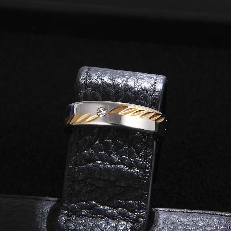 CACANA 316L paslanmaz çelik Superman parmak yüzük erkek çelik yüzük yüksek cilalı adam düğün yüzük 6mm