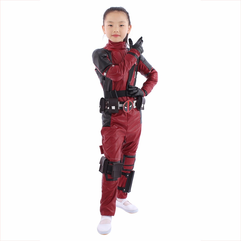 Aliexpress.com : Buy Deadpool Cosplay Costume KIDS BOYS ...