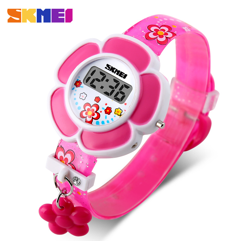 2017 New Sunflower Cute Kids Watches Children Watches LED Cartoon Silicone Digital Watch For Boys Girls new 2015 led watch women kids watch fashion casual cartoon watches colorful rainbow girls
