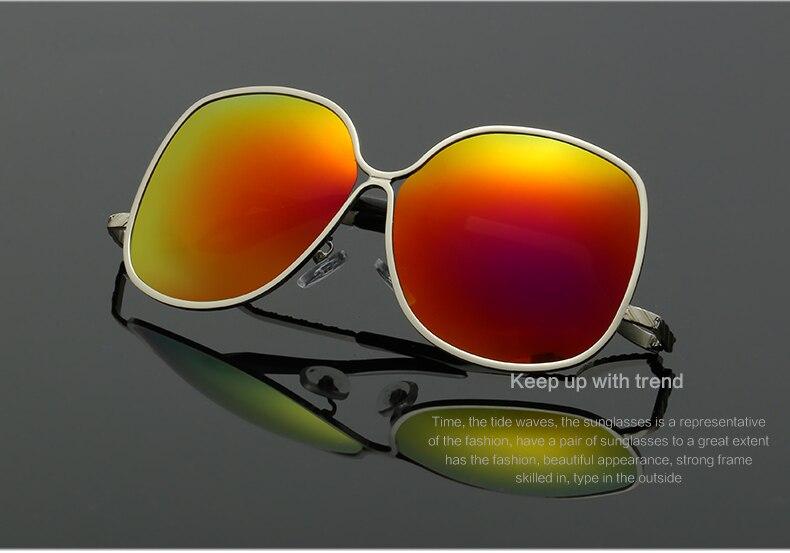 LA VIE Polarized Creative Design Women Sunglasses Alloy Frame Special Design Leg Cool Sun Glasses Colorful Lenses Oculos LVA281 in Women 39 s Sunglasses from Apparel Accessories