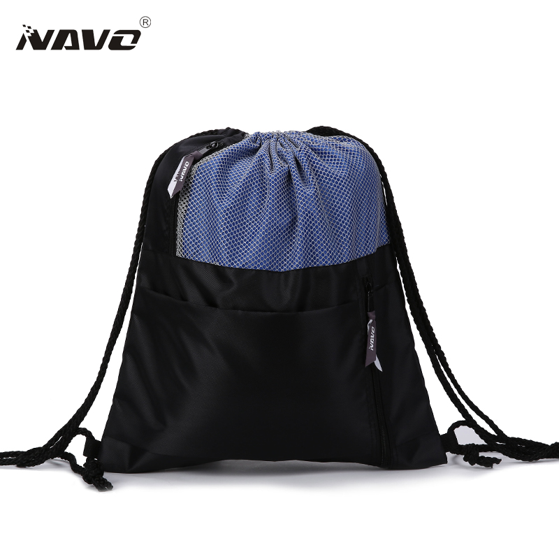 NAVO Fashion Drawstring Backpack Shoe Bag Multi Room 100% Polyester Draw string Bag For Travel Patchwork String Bagpack DS-PJ16