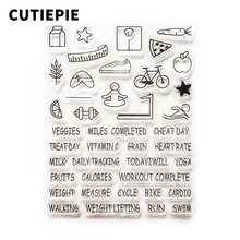 цена на Sports Series Transparent Clear Stamp DIY Silicone Seals for Scrapbooking/Card Making/Photo Album Stencils Decorative Sheet