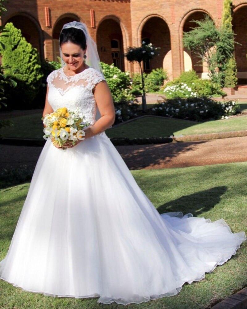 Vintage Wedding Dresses With Cap Sleeves: Vintage Vestido De Noiva 2019 Muslim Wedding Dresses Ball