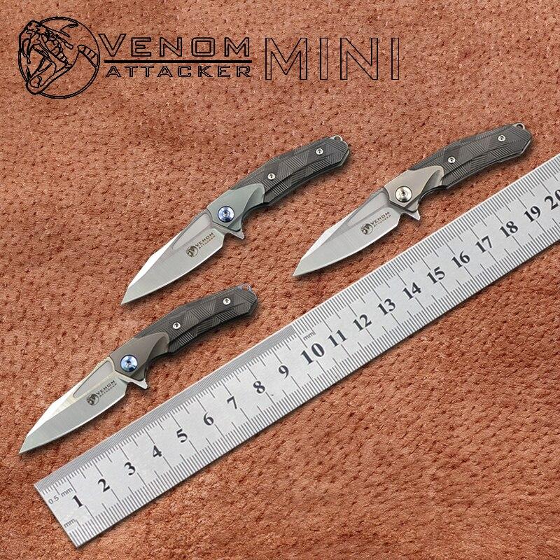 HOT SALE] New VENOM armor Knives M390 Steel +CF folding