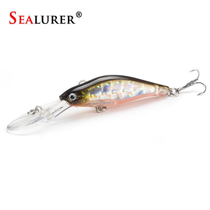 SEALURER Floating Laser Minnow Fishing Lure 9.5CM/7G Wobbler Bionic Fly Pesca Hard Bait Carp Crankbait Tackle 6# hook 1Ppcs/lot
