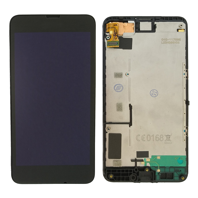 For <font><b>Nokia</b></font> Lumia 630 N630 RM-976 RM-977 RM-978 RM-979 LCD Display Display Touch Screen Digitizer with Frame with <font><b>Battery</b></font> <font><b>Cover</b></font> wi image