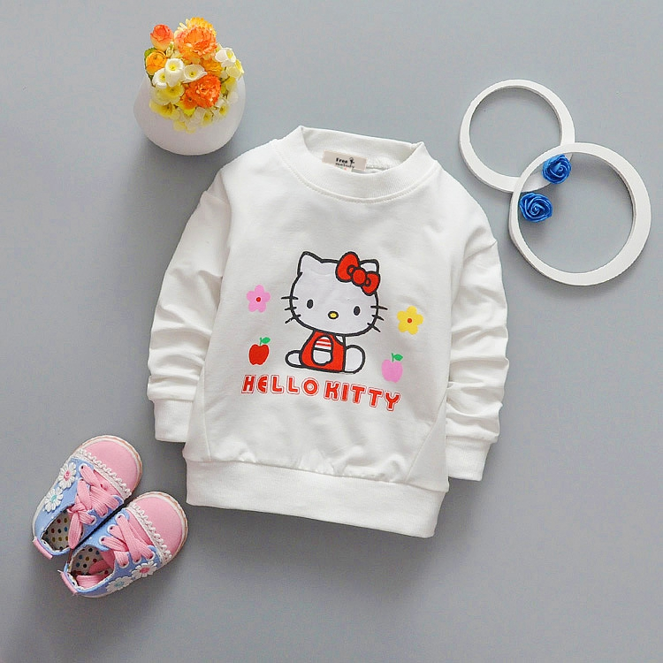 Baby Toddler Kids Girls Cotton Autumn Spring T-shirts Long Sleeve Winter Bottoming Shirt Children Clothes G079