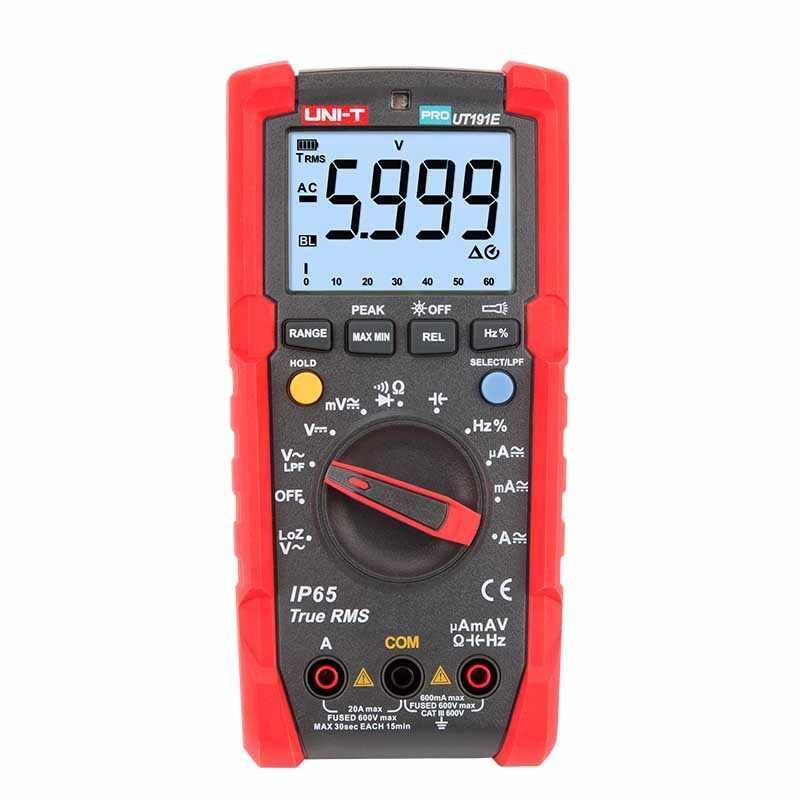 UNI-T ut191e 전문 멀티 미터, true rms ip65 방수/방진 디지털 멀티 미터, loz 전압 측정