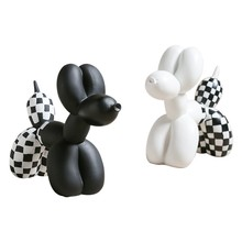 White Black Resin Balloon Dog Figurines furnishings Animal home living room decorations cute Crafts Drop shipping
