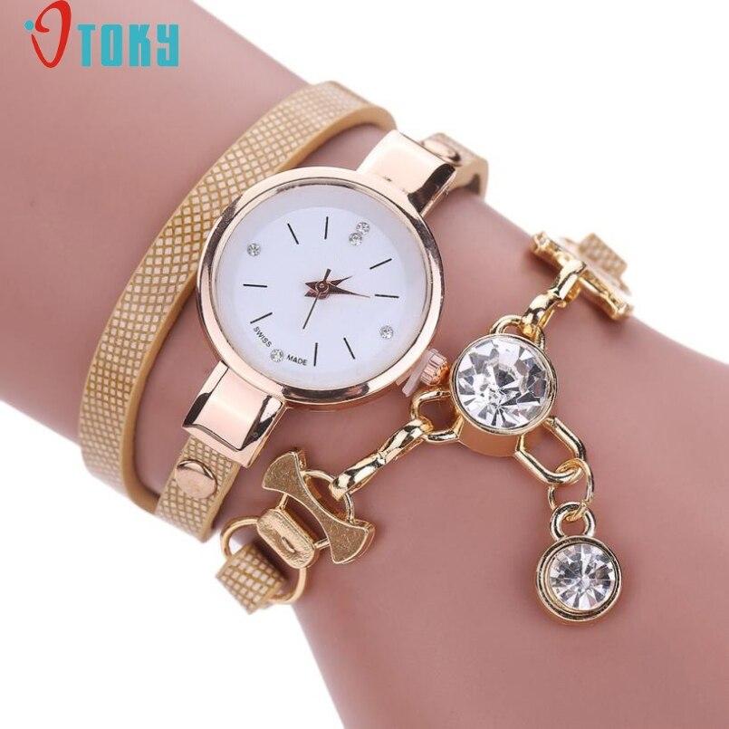 Excellent Quality OTOKY Women Watch Leather Bracelet Watch Casual Women Wristwatch Luxury Brand Quartz Watch Relogio Feminino