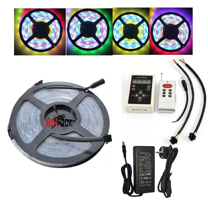 Rgb из светодиодов волшебный свет прокладки контроллер 5050 фонарь статья IP67 тира светодиодная лента свет 5 м 12 В 150 светодиоды 6803 IC + <font><b>133</b></font> программ&#8230;