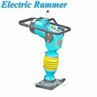 220V/380V Electric Ramming Machine 3000W High Power Tamping Rammer Backfill Earth Construction Rammer Tool