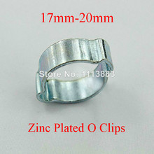 10PCS/LOT 17-20mm Double Ear Zinc Plated O Clips Pipe Clamps