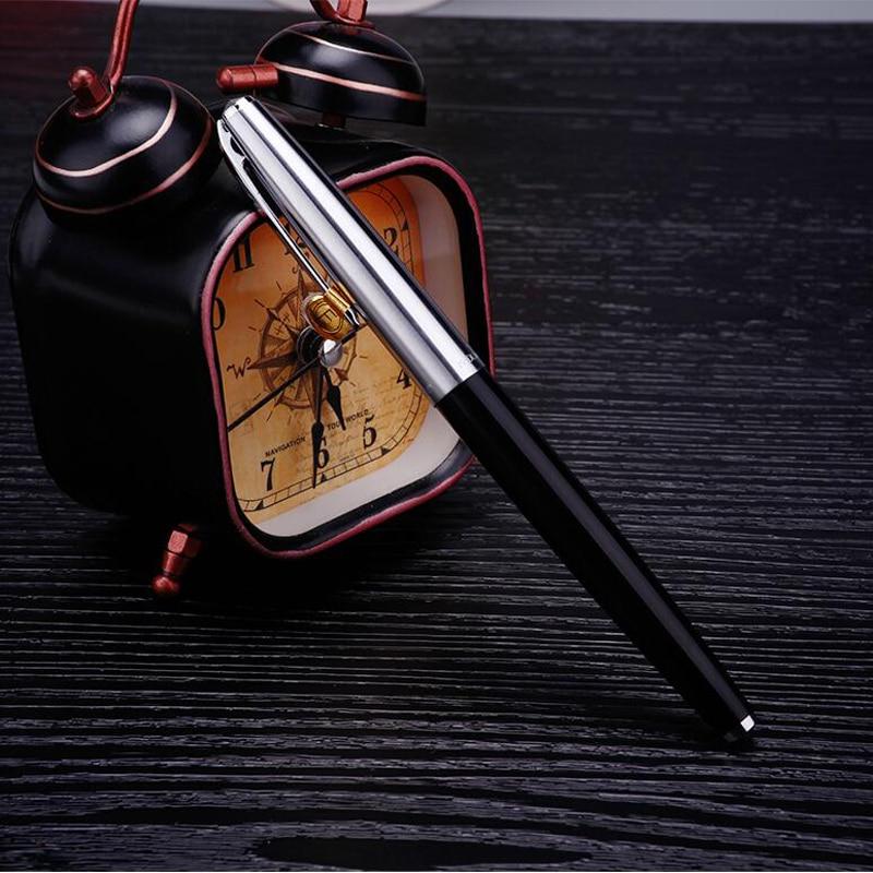 Luoshi Fashion Design 2018 New Arrival Hero 100 Half Black Color Nice Quality 14K Gold Nib Fast Writing Nice Packing Gift Pen