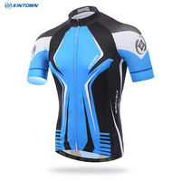 XINTOWN 2017 new star jersey short jacket cycling suits short-sleeved shirt summer breathable sport thermal underwear