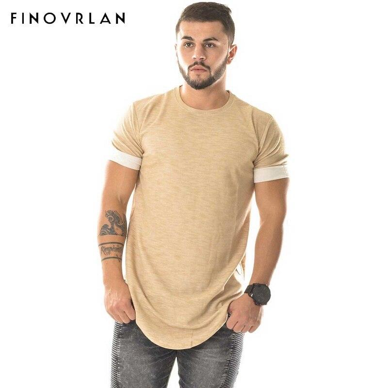 Homme 2018 Dernière beige été hip hop t-shirt kanye west t chemise hommes plaine hiphop arc fond solide t shirt T Shirt