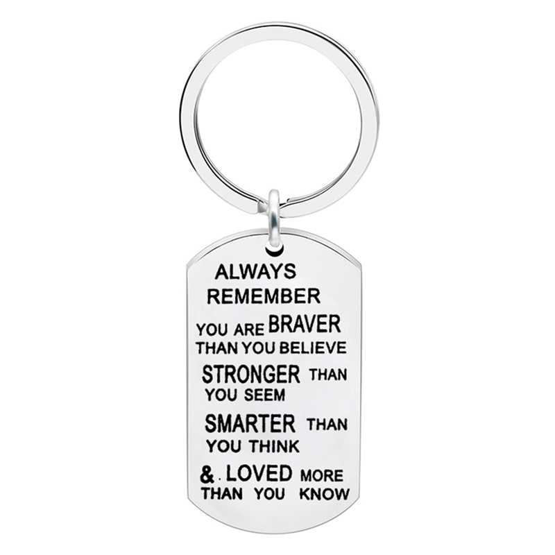 Stainless Steel Pendant Gifts For Mom Dad Son Lover Keyring