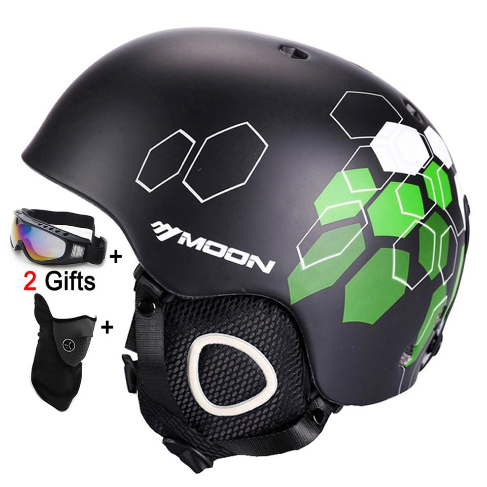 все цены на Moon Ski Helmet Winter Safety Women Men Child Skateboard Skiing Snowboard Helmet CE Certification 52-64 CM