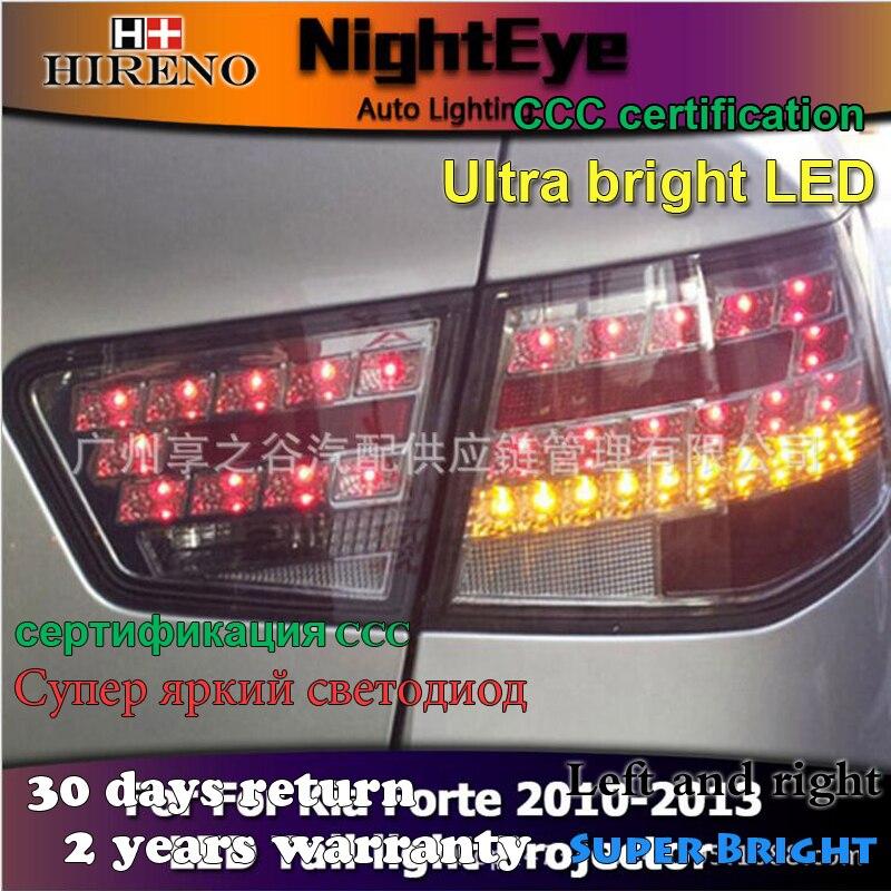Hireno Tail Lamp for KIA Forte 2010 2011 2012 2013 Taillight Rear Lamp Parking Brake Turn Signal Lights