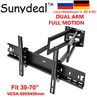 Full Motion Tilt Swivel TV Wall Mount Bracket VESA up to 600x400mm TV Holder Suit for 32'' 40'' 50'' 55 60 65 70 TV Stand