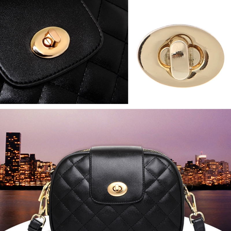 Provided Egg Shape Bag Twist Lock 4 Color Small Oval Handbags Case Alloy Catch Buckle Diy Bag Parts & Accessories