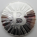 Bitcoin Okcoin TRY ME BTC Medal Silver Copy Coin Souvenir Metal Craft Coins