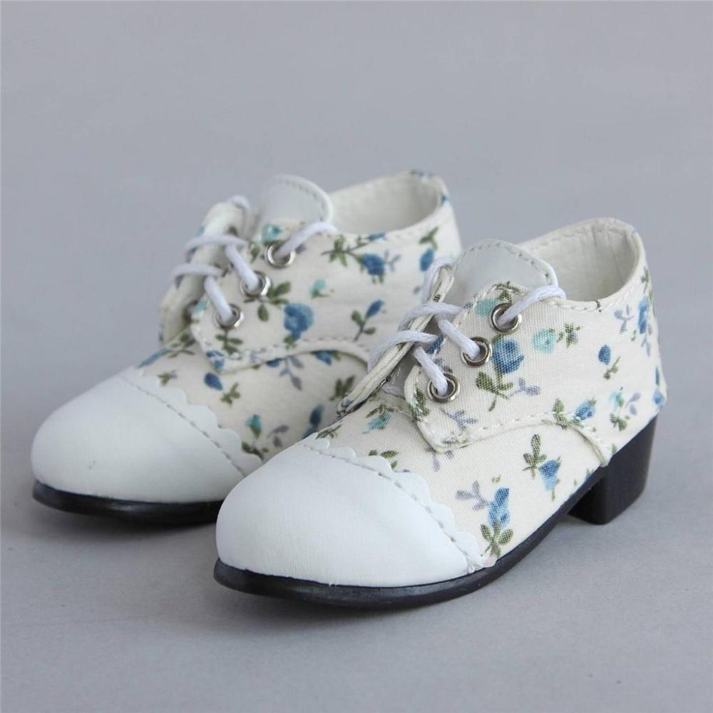 [wamami] 48# White Flower Splice 1/4 MSD DZ DOD BJD Dollfie Medium Heel Shoes 1 3 1 4 1 6 1 8 1 12 bjd wigs fashion light gray fur wig bjd sd short wig for diy dollfie