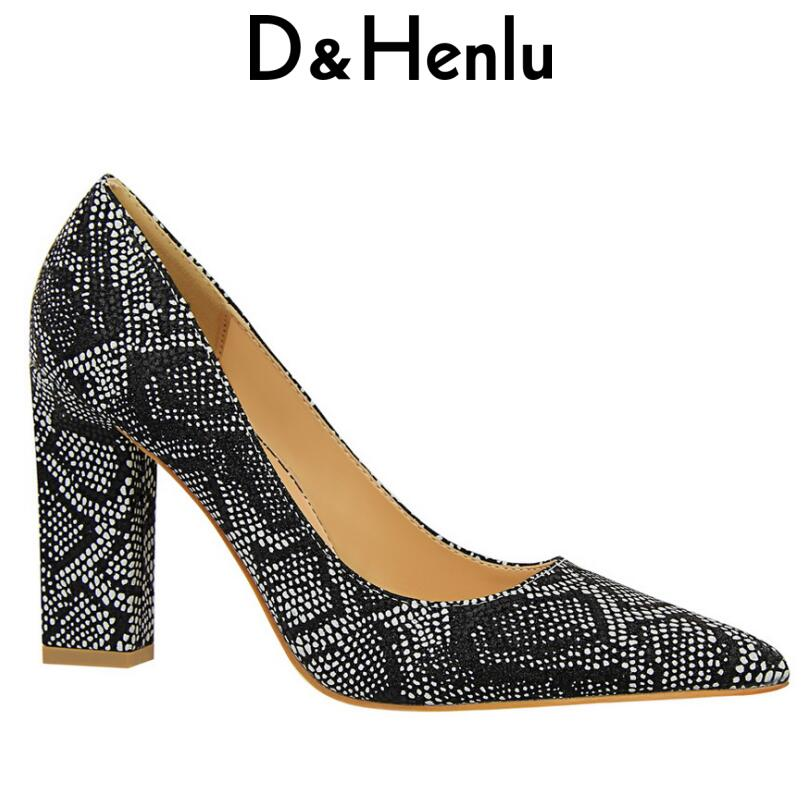 D&Henlu Shoes Women Heels Party Shoe Pumps Heel Ladies Shoes Pumps Wedding Shoe Women High Heels Retro Serpent Chaussures femme luxury brand crystal patent leather sandals women high heels thick heel women shoes with heels wedding shoes ladies silver pumps