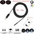 5 М 7 мм Гибкий Кабель USB Эндоскоп Камера Для Android PC Smart Android Телефон Бороскоп Инспекции Змея Пробки 6 LED Cam
