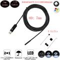 5 M 7mm Cabo Flexível Endoscópio Camera USB Para Android PC Smart Phone Android Endoscópio Inspeção Cobra Tubo 6 LEVOU Cam