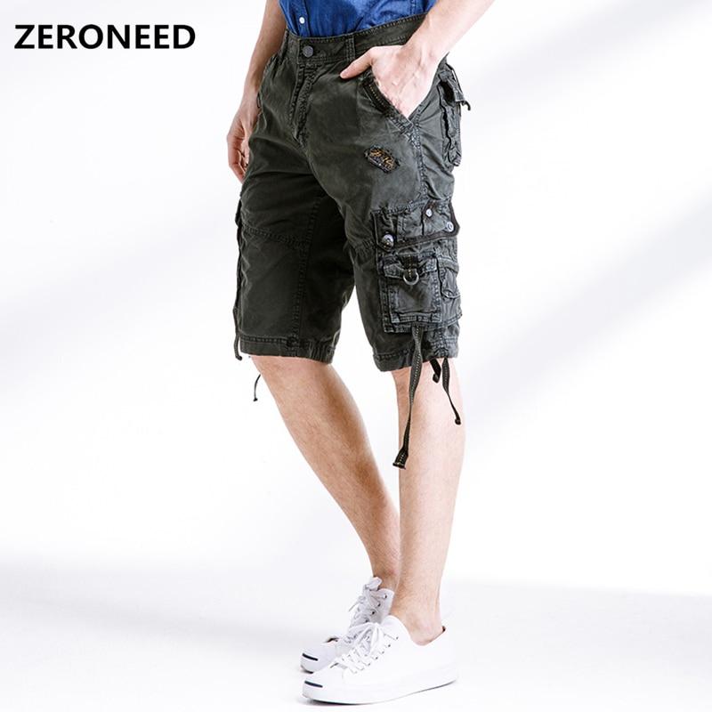 2018 Marke Cargo-shorts Männer Casual Tasche Bermudas Design Militär Baumwolle Kurze Hosen Mode Armee Arbeit Shorts Homme 40 In Vielen Stilen