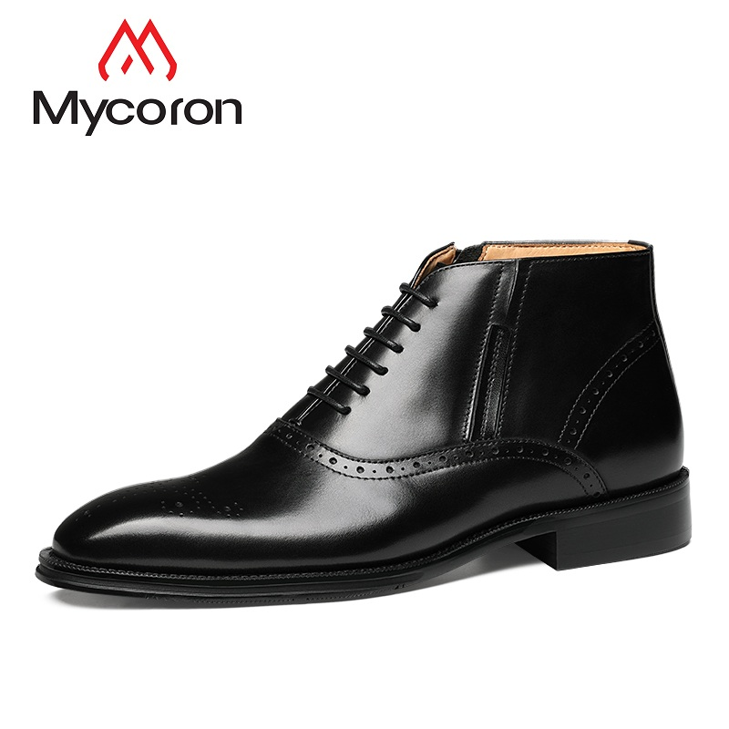 MYCOLEN Men High Quality Ankle Boots Man Pointed Toe British Style Chelsea Boots Men Business Casual Shoes Botas Hombre