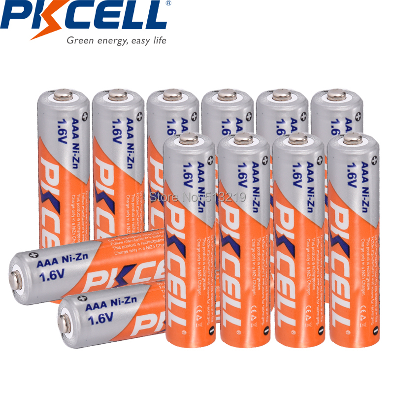 Image 2 - 12PCS  NIZN battery 1.6V AAA 900mwh pile rechargeable battery AAA cell and NI ZN battery charger for AA/AAA batteries  PKCELLReplacement Batteries   - AliExpress