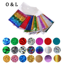 5pcs Star Design Transfer Foil Nail Art Sticker Paper DIY Beauty Nail Decoration Tools 50Colors Options